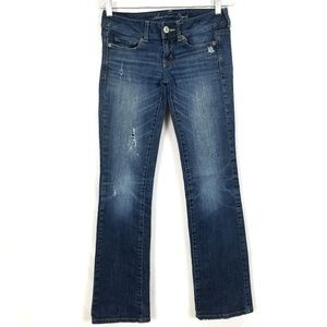 AMERICAN EAGLE Medium Wash Slim Bootcut Jean